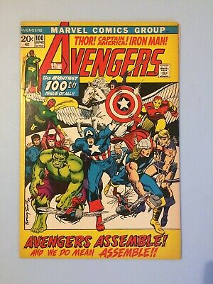 The Avengers # 100 Marvel Comics 1972 VF Bronze Age