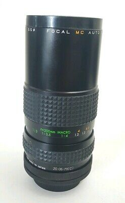 Focal 80-200mm MC Auto Zoom Lens Free Shipping