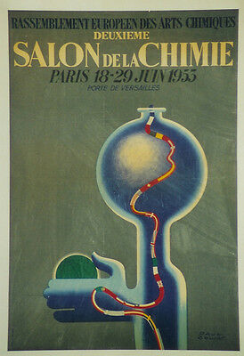 Original Plakat - Salon de la Chimie Paris 1953