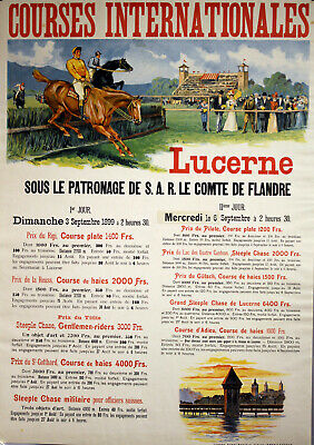 Original Plakat - Courses Internationales Lucerne