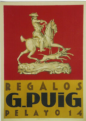 Original Plakat - G. Puig, Madrid, Regalos