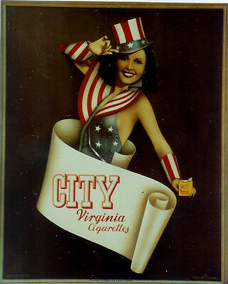 Original Plakat - CITY Virginia Cigarettes