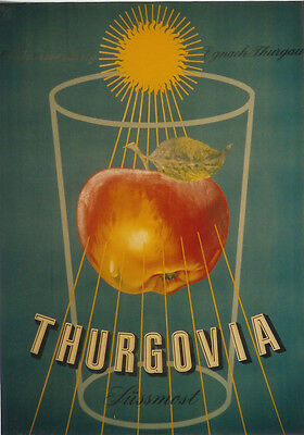 Original Plakat - Thurgovia Süssmost