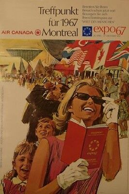 Original Plakat - Air Canada - Montreal - expo 67