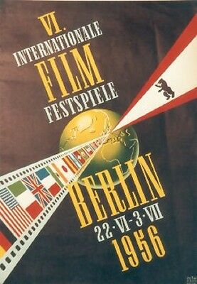 Original Plakat - Internationale Flilm Festspiele Berlin 1956
