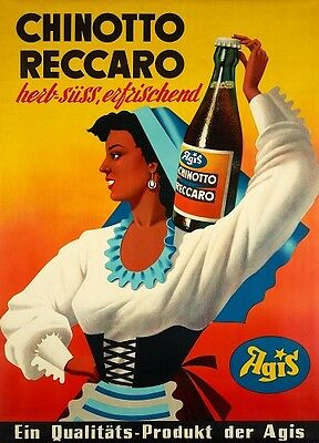 Original Plakat - Agis - Chinotto Reccaro um 1950