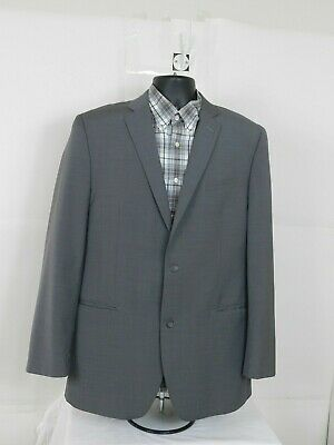 Andrew Marc New York Mens 42L Wool Sport Jacket Suit Blazer Gray Two buttons