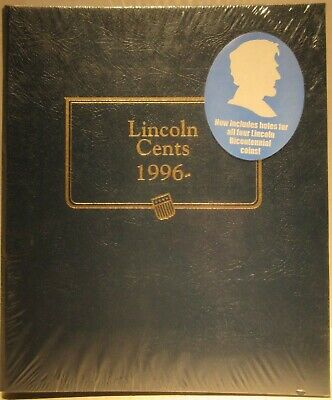2 page Whitman Classic Coin Album #2235 Lincoln Cents 1996 to 2010 S mint