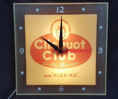 Vintage Clicquot Club Quality Beverages Wall Clock