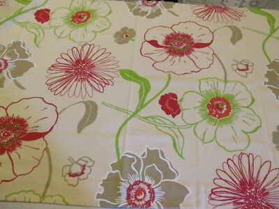 Vintage French Designer Fabric 2 pieces, huge flowers, crafts,cushions, projects