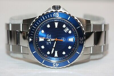 Bulova Marine Star Men's 98B130 Blue Dial Silver-Tone Bracelet 43mm Quartz Watch