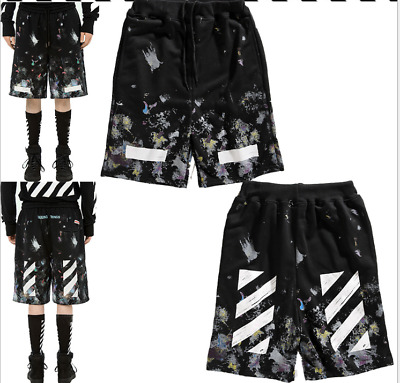 2019 summer Unisex OFF WHITE Starry sky casual pants Five Points Short Pants