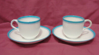 Two (2) Antique OLD PARIS Porcelain CUP & SAUCER SETS 9684