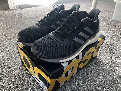 4692c66e0 Men s Adidas Boost Supernova Glide 9 Running Shoes Trainers Size 8.5 42  Black Uk