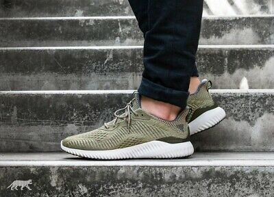 f24fa1accf7ea Adidas Alphabounce EM M Running Shoes Trace Olive   Grey Sz 9 Men BW1203