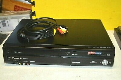 PANASONIC DVD VCR Combo DVD Recorder 1 Button VHS to DVD