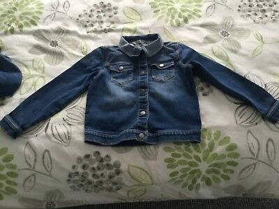 Girls George Denim Jacket Age 5-6 Years Excellent Condition