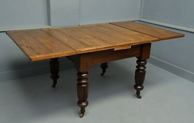 Victorian Mahogany & Pine Extending Dining Table Seats 8