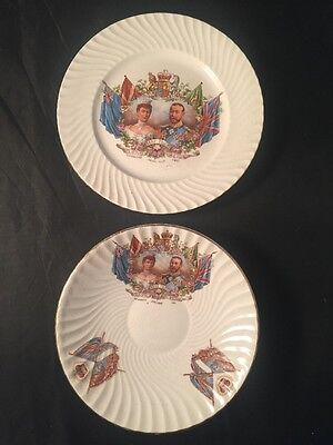 Coronation Of King George V and Queen Mary, Royal Memorabilia, Plate, Saucer