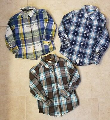 Lot of 3 Carter's & The Childrens Place Toddler Boy LS Shirts 18-24mons/2T