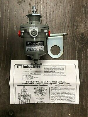 Itt Conoflow Air Line Filter Regulator 0-25 Psi 300 Psi Max Gfh60Xtkex1C - Dj106