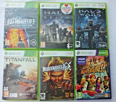 6x XBOX 360 GAMES - VARIOUS BUNDLE JOB LOT Incl. HALO WARS, BATTLEFIELD 3