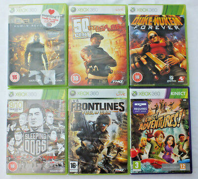 6x XBOX 360 GAMES - VARIOUS BUNDLE JOB LOT Incl. SLEEPING DOGS, 50 CENT
