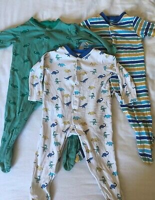 Baby Boy Dinosaur Sleepsuits From John Lewis. Size 6-9 Months.