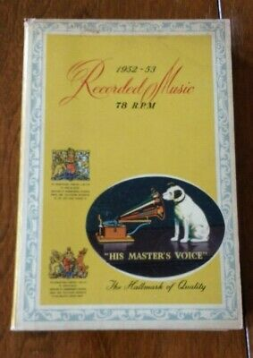 His Master's Voice Recorded Music 1952/53 Overseas Edition 78 PRM Record Catalog