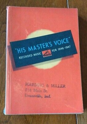 His Master's Voice Recorded Music For 1946 - 47 Record Catalog From England