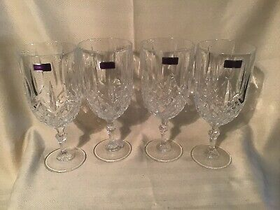 """Marquis By Waterford Markham Ice Tea Glass 8 1/4"""" New Stickers Set Of 4"""