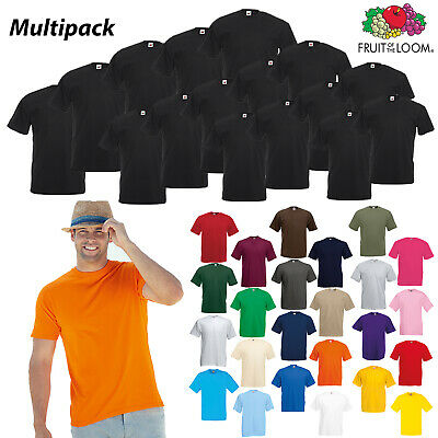 Fruit of the Loom Plain T-shirt Wholesale Multipacks of 5 10 25 50 100