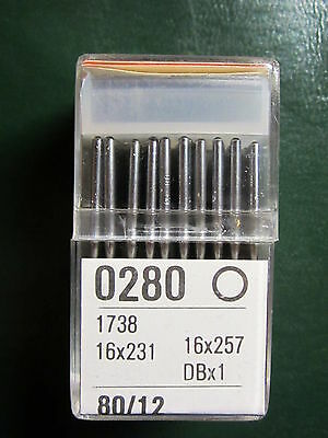 100- DBx1, 16x231, 16x257, 287WH sz 12 Sewing Machine Needles for Singer 31-15