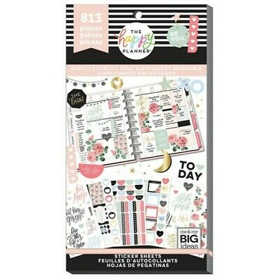 The Happy Planner Sticker Value Pack - Simply Lovely 813 Stickers in Pack