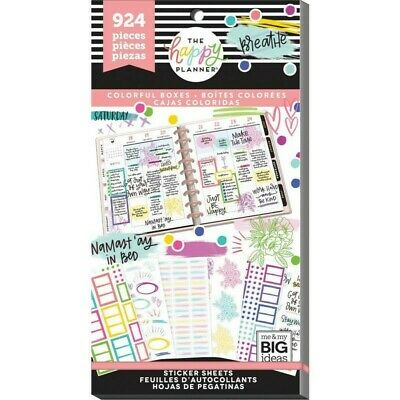 The Happy Planner Sticker Value Pack Highlights Boxes 924 stickers in this pack!
