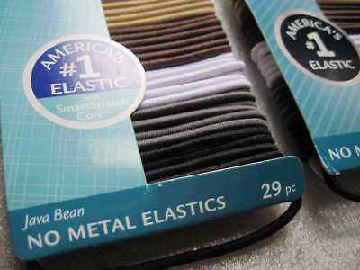 29 Goody Ouchless Java Bean Thin Skinny No Metal Elastic Hair Bands Ponytailers