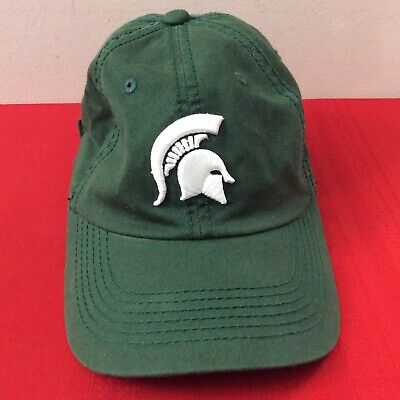 premium selection facbf bf6d2 Michigan State Spartans Adjustable Green Hat Cap Top Of The World 1 SZ (H1)