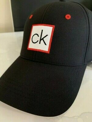 461b4246e0b CALVIN KLEIN MEN S ORIGINAL BLACK RED CAP HAT ONE SIZE CK LOGO Vintage Rare  Sale