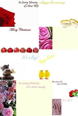 small florist greetings cards birthday, New baby, get well, weddings funeral