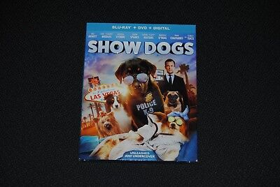 Show Dogs (Blu Ray + DVD + Digital) 2018, w/SLIP COVER ***FREE SHIPPING***