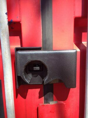 Bolt on Shipping Container Security Lock Box With a Free Puck Lock & Template