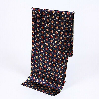 Men Silk Scarves Fashion Accessories Long Scarf Cravat Print Sided Warm Wrap