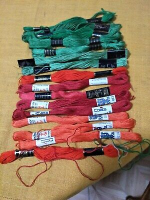 16 Hanks Of Stranded Embroidery Thread