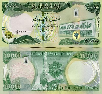 Iraqi Dinar 20,000 Crisp New (2013-2015) UNC with Security 2 x 10000! Fast Ship!