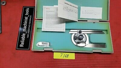 Japan Made Mitutoyo Vernier Protractor ( Machinist Tools)(T168)