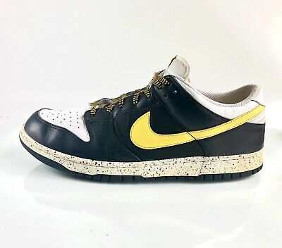best sneakers 39386 9b241 Nike Dunk Low Cl 318020-071 Black Varsity Maize White Shoes Size 12  Deadstock