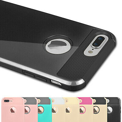 For iPhone 6 6S 7 8 Plus Hybrid Shockproof Hard Case Cover with Screen Protector