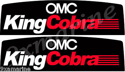 OMC King Cobra Gimbal Stickers. Set Of Two