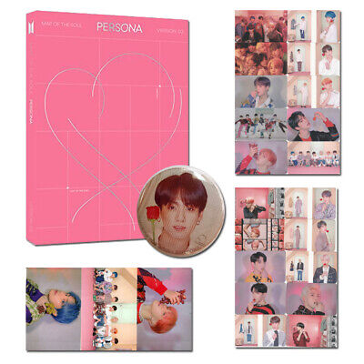 PRE-ORDER BTS-MAP OF THE SOUL PERSONA FULL PACKAGE+POSTER Photocards Pin Badge