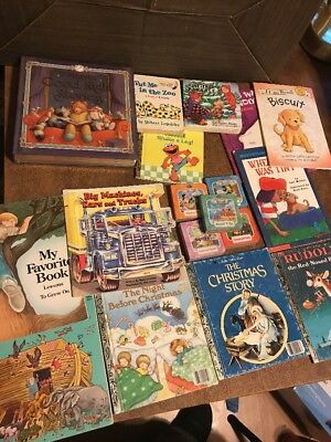 Lot 18 Children's Books Little Golden And Others
